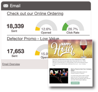 Email Marketing Dashboard Preview